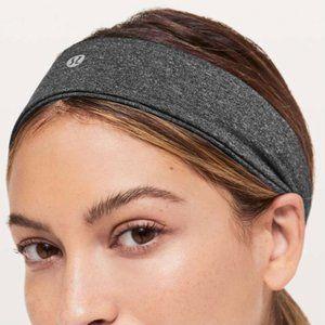 Lululemon Fly Away Tamer Headband Grey NWT